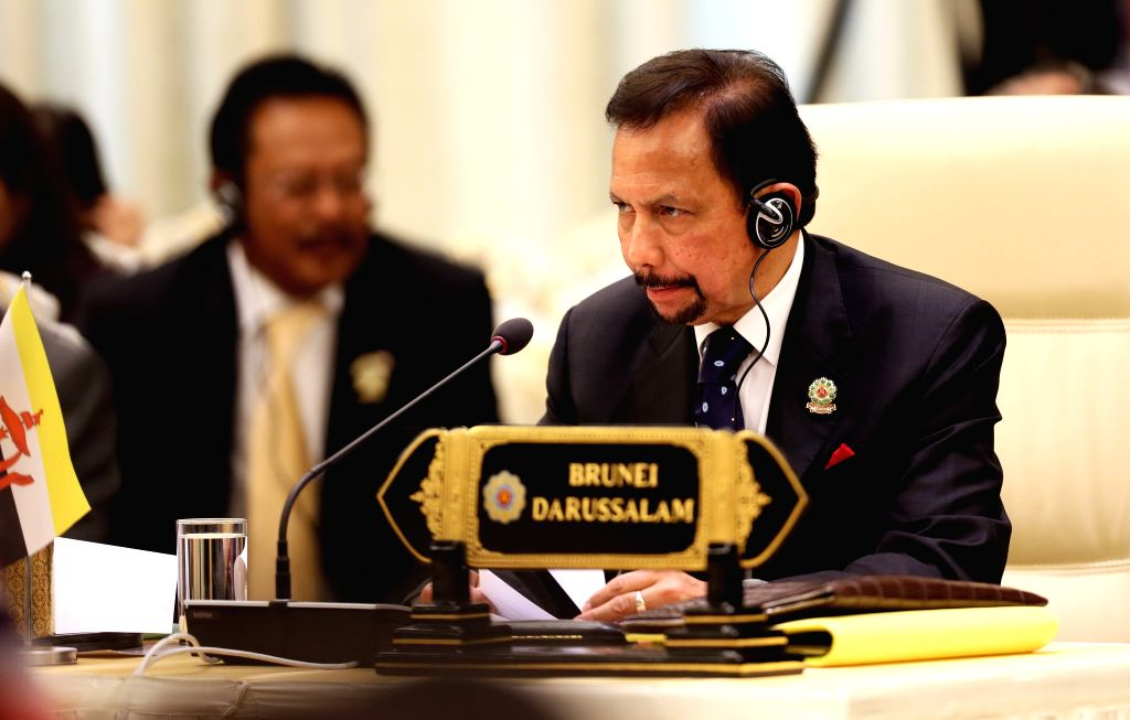 Nay Pyi Taw (Myanmar): Brunei`s Sultan Hassanal Bolkiah attends the 12th ASEAN-INDIA Summit in Nay Pyi Taw, Myanmar, Nov. 12, 2014.