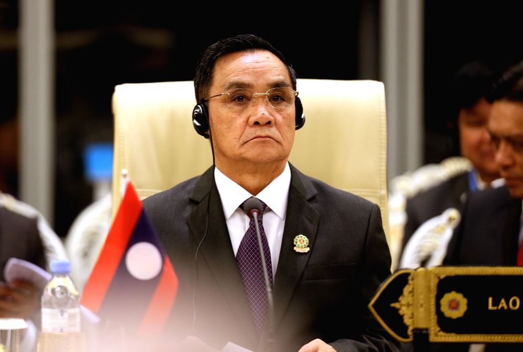 Nay Pyi Taw (Myanmar): Lao Prime Minister Thongsing Thammavong attends the 12th ASEAN-INDIA Summit in Nay Pyi Taw, Myanmar, Nov. 12, 2014. - Thongsing Thammavong