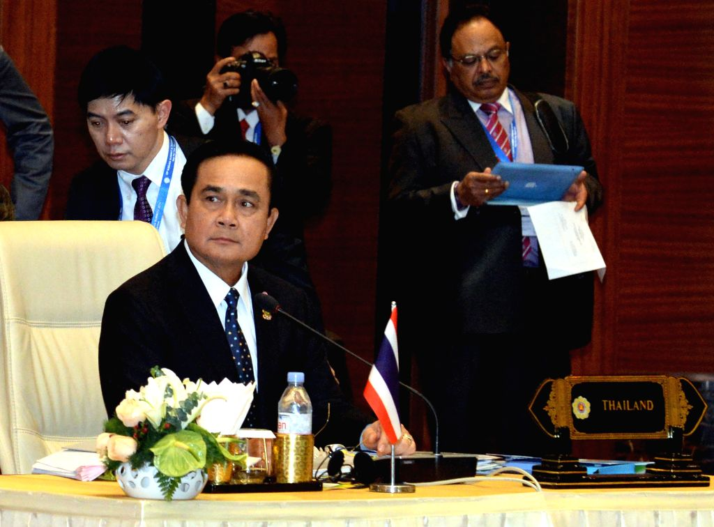 Nay Pyi Taw (Myanmar): Thai Prime Minister Prayuth Chan-ocha attends the 25th ASEAN summit in Nay Pyi Taw, Myanmar, Nov. 12, 2014. ASEAN leaders on Wednesday adopted a declaration on the ASEAN ... - Prayuth Chan