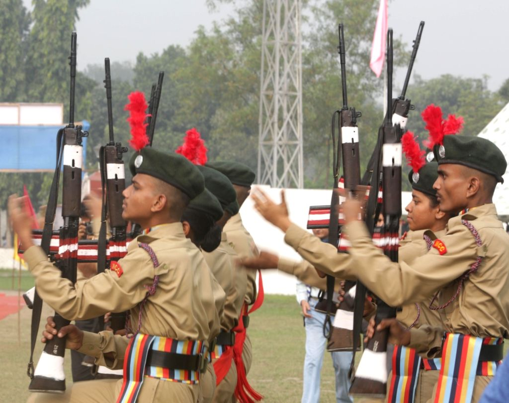 NCC cadets display their skills during 68th NCC Day Celebrations at Fort William in Kolkata on Nov 27, 2016.