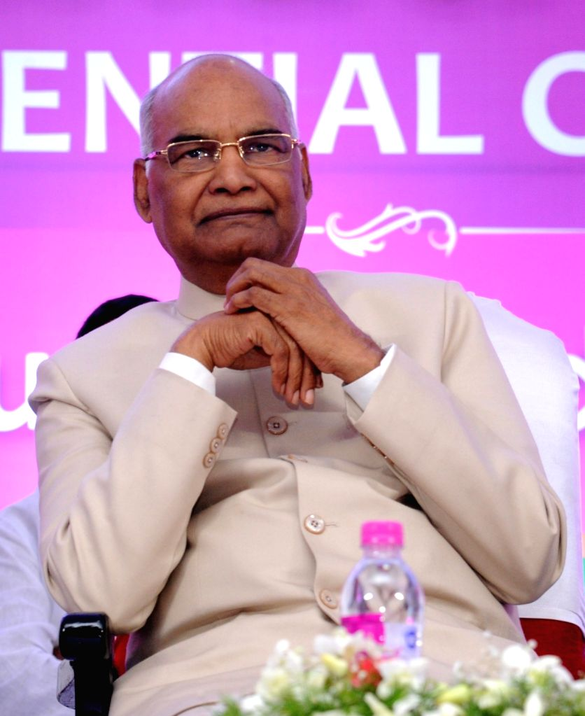 NDA's presidential candidate Ram Nath Kovind during a meeting of the leaders of Telangana Rashtra Samithi (TRS) in Hyderabad on July 4, 2017. - Nath Kovind