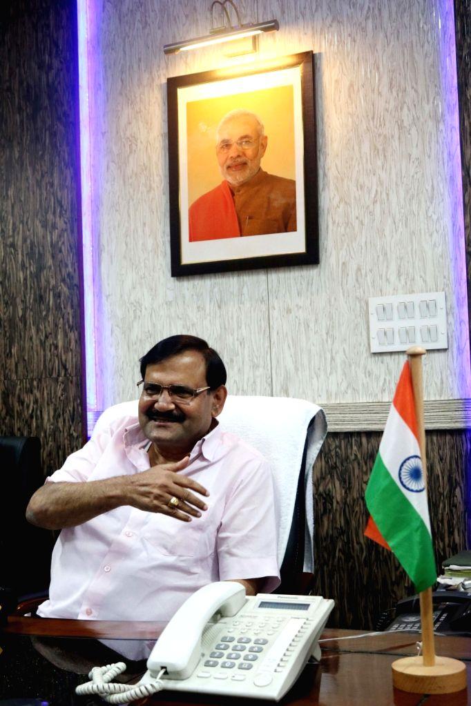 NDMC vice-chairman Karan Singh Tanwar addresses a press conference in New Delhi on Aug 2, 2016. - Karan Singh Tanwar