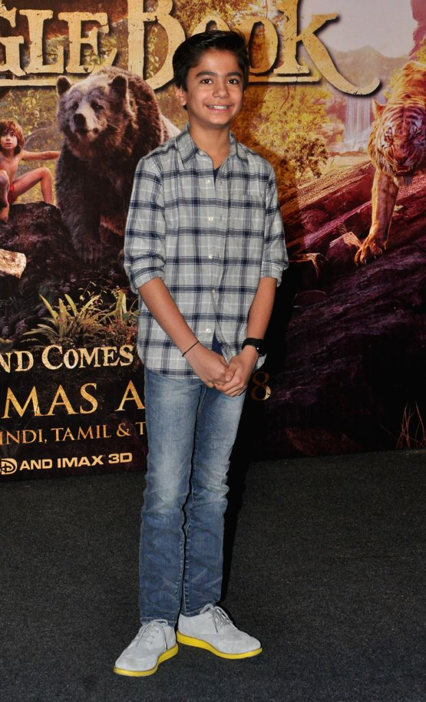 """Neel Sethi, Indian-American child actor, who essays lead in """"The Jungle Book""""."""