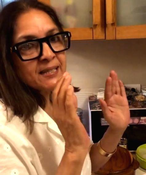 Neena Gupta shares how to make desi pizza. - Neena Gupta