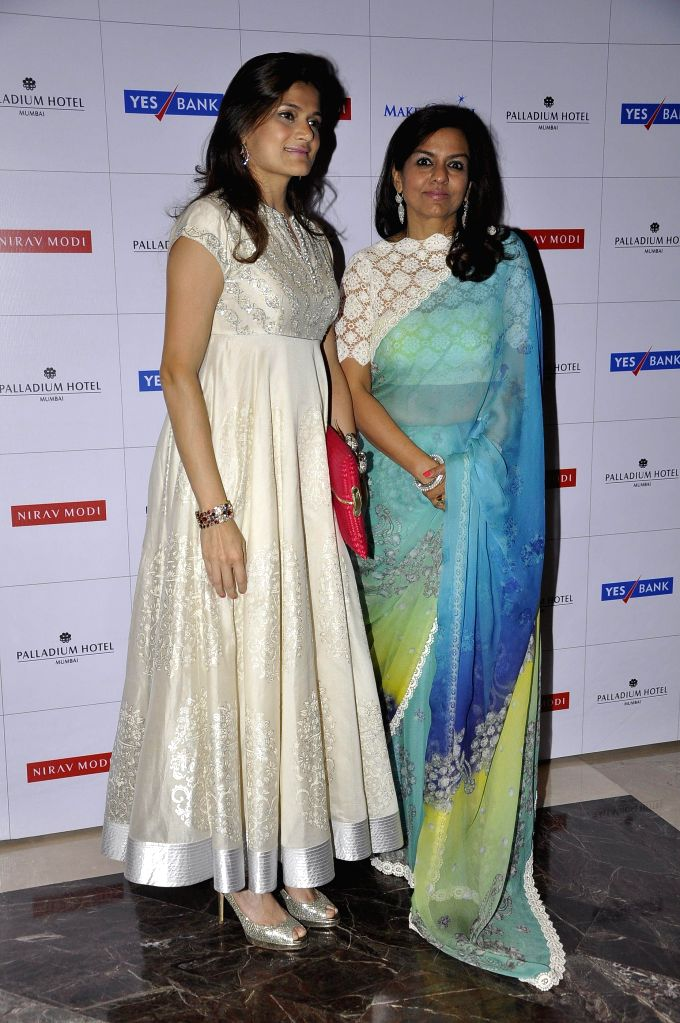 Neerja Birla, wife of industrialist Kumar Mangalam Birla Chairman, Aditya Birla Group and Sangita Jindal, Chairperson, JSW Foundation during Make a Wish Foundation event in Mumbai, India on April 26,