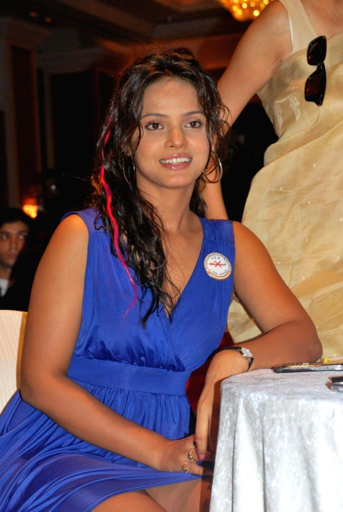 Neetu Chandra at CPAA's Cricket Match Press Meet at Hotel Taj Lands End, Mumbai.