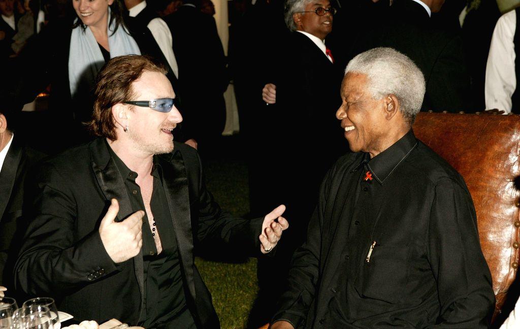 Nelson Mandela with close friend Bono