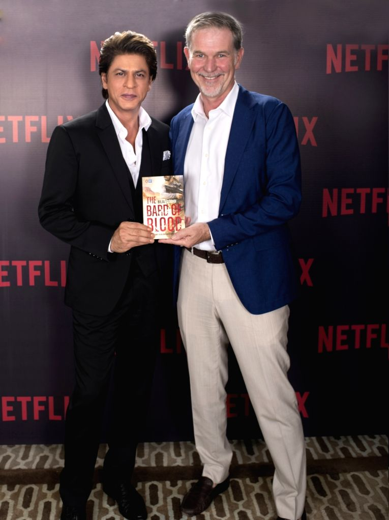 Netflix CEO Reed Hastings with actor Shah Rukh Khan. - Shah Rukh Khan