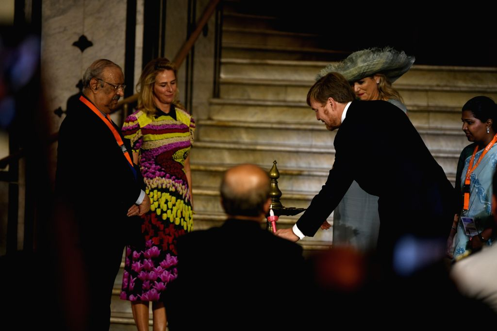 Netherlands King Willem-Alexander and Queen Maxima during the inauguration of a first ever collaborative exhibition titled 'India & The Netherlands in the Age of Rembrandt' in Mumbai on ...