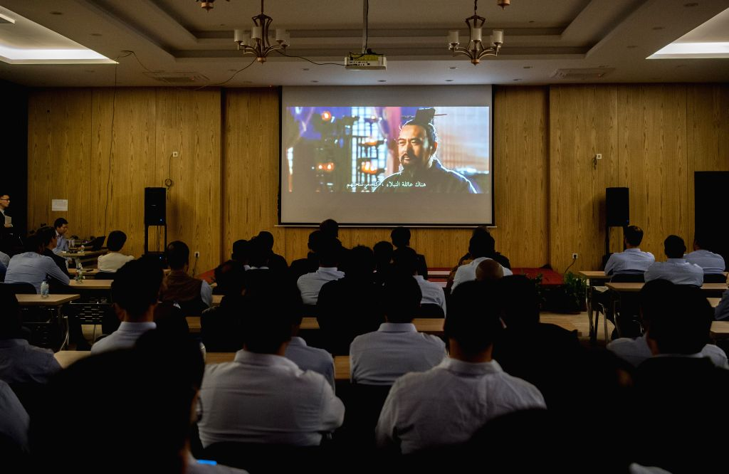 NEW ADMINISTRATIVE CAPITAL (EGYPT), Dec. 8, 2019 People watch Chinese film Confucius during the Chinese film week in the central business district of Egypt's New Administrative Capital, ...