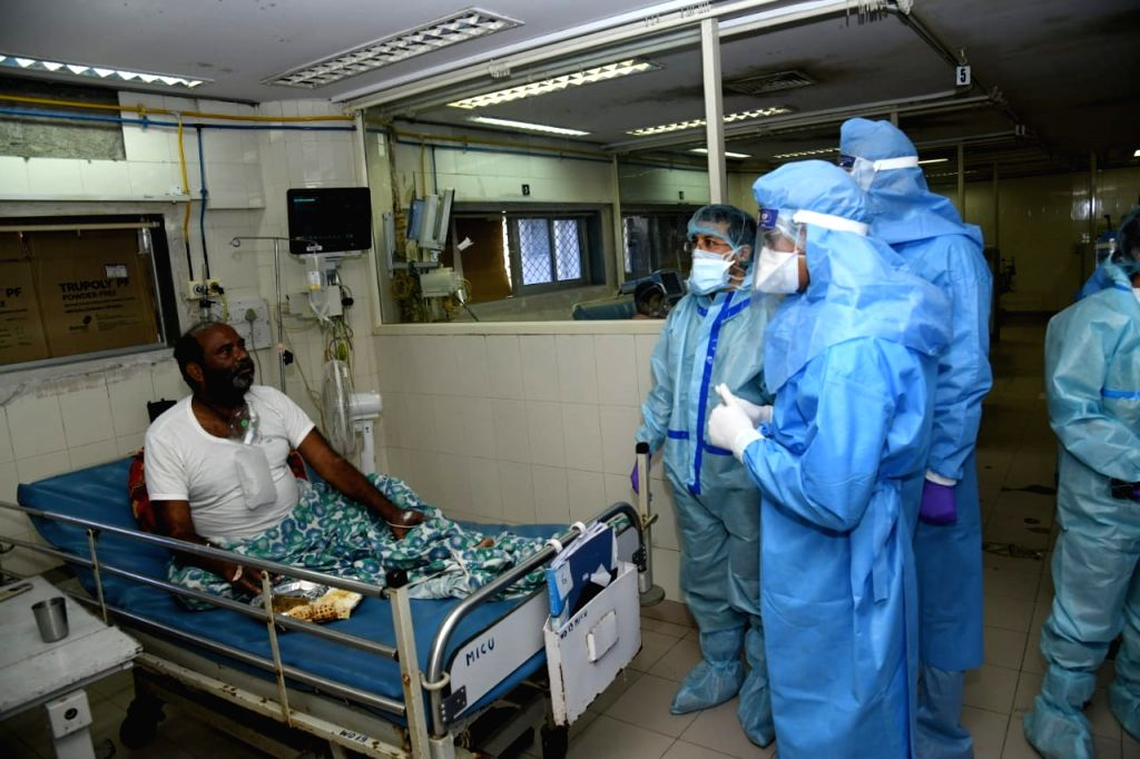 New BMC Commissioner Iqbal Singh Chahal on saturday visited the BYL Nair Hospital, one of the major Covid-19 facilities in the city, on the first day after taking his new charge. - Iqbal Singh Chahal