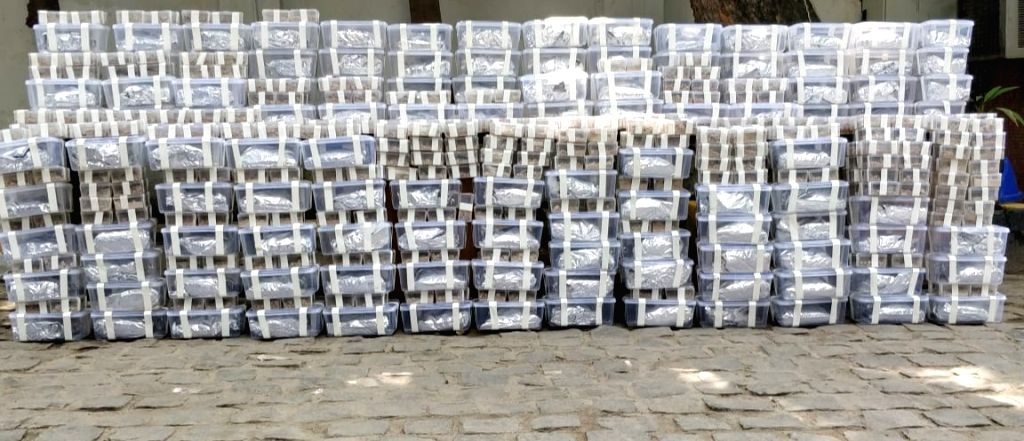 """New Delhi: 510 kg """"marijuana"""" that was recovered by the Delhi Police crime branch in New Delhi on July 19, 2019. (Photo: IANS)"""