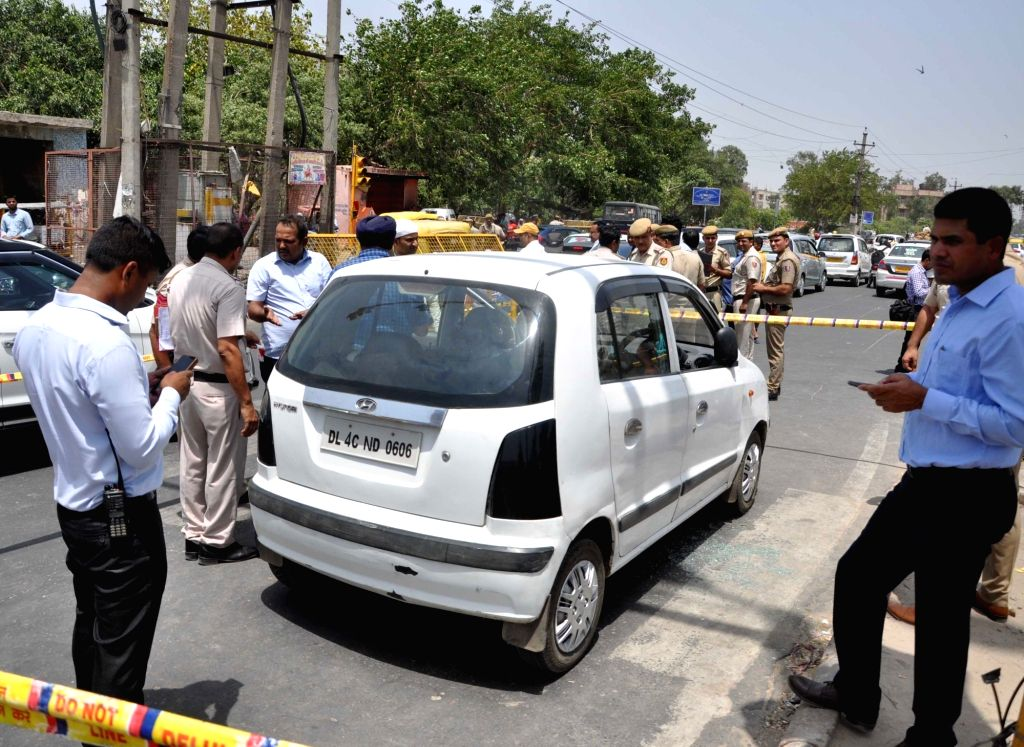 New Delhi: A criminal, who had 41 cases against him, and his associate were shot dead by unidentified assailants in North-East Delhi's Nand Nagari area on June 14, 2019. (Photo: IANS)