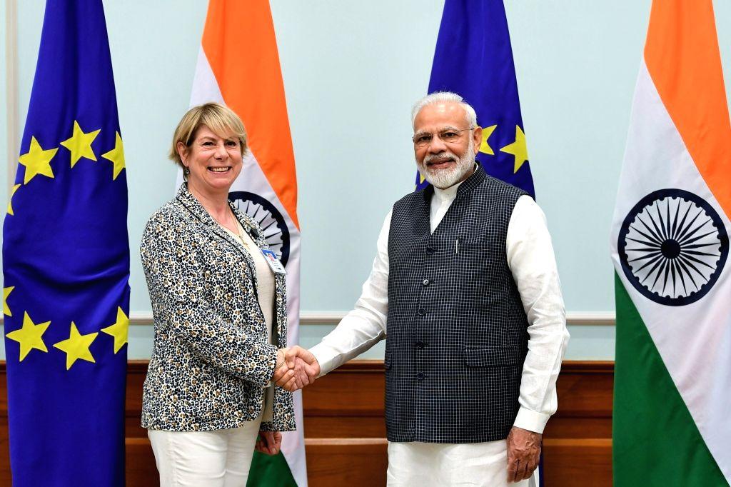 New Delhi: A member of the European Parliament calls on Prime Minister Narendra Modi in New Delhi on Oct 28, 2019. (Photo: IANS/PIB) - Narendra Modi