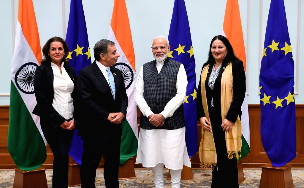 New Delhi: A member of the European Parliament calls on Prime Minister Narendra Modi in New Delhi on Oct 28, 2019. (Photo: IANS/PIB) - Narendra Modi