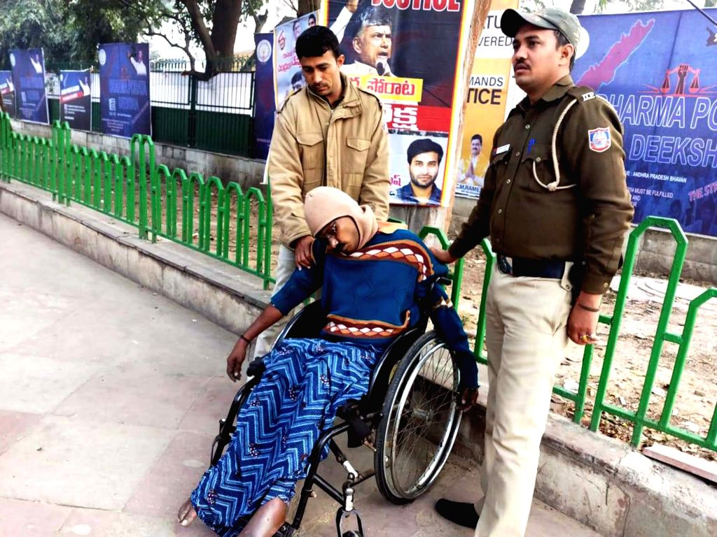 New Delhi: A physically challenged man from Andhra Pradesh identified as D. Arjun Rao (40) who allegedly committed suicide near the AP Bhavan where Chief Minister N. Chandrababu Naidu undertook a 12-hour fast demanding special category status to the  - N. Chandrababu Naidu and D. Arjun Rao