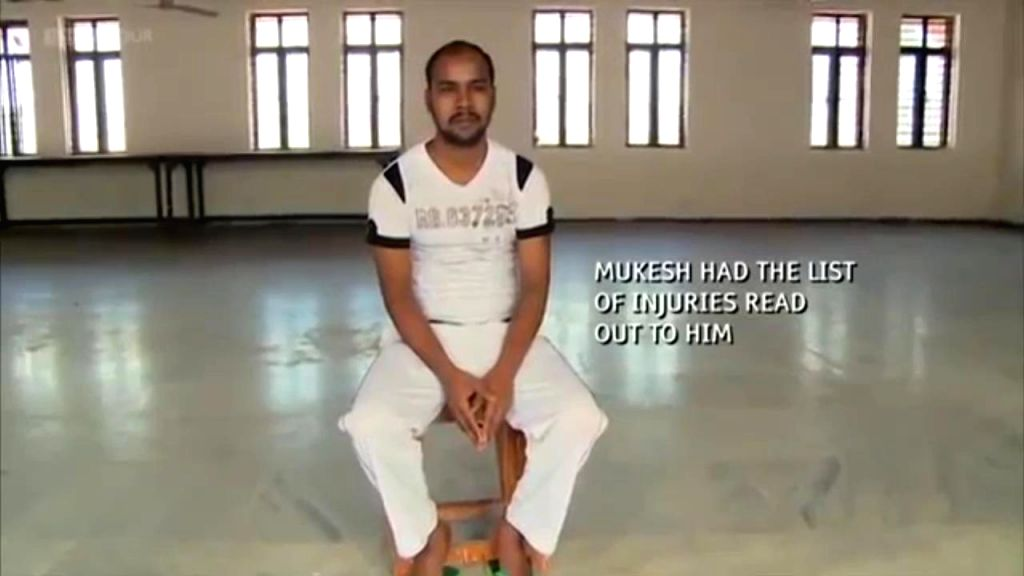 "A scene from ""India's Daughter"" - the BBC documentary on the December 16, 2012 gang rape, showing Mukesh Singh one of the convicts in the case. The central government on Thursday ... - Mukesh Singh"