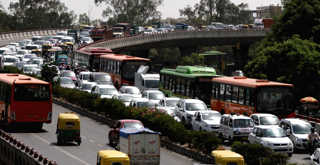 New Delhi:  A view of Delhi traffic after the second phase of odd-even traffic scheme concluded on 30th April, 2016; in New Delhi on May 2, 2016. (Photo: IANS)