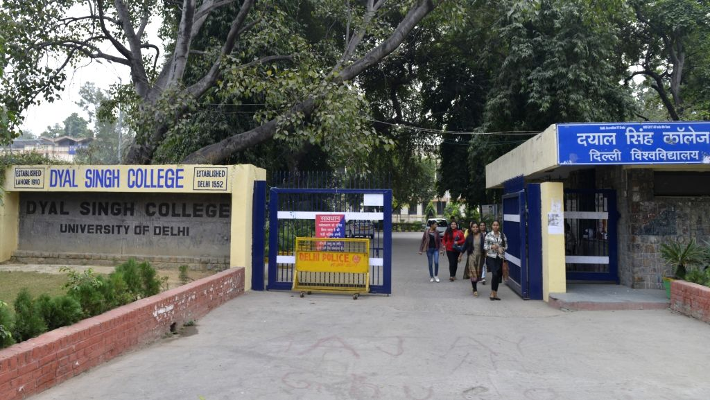 New Delhi: A view of Delhi University's Dyal Singh College in New Delhi on Nov 18, 2017. The governing body has to decided to rename its evening college as 'Vande Mataram Mahavidyalaya'. This move came after the evening college  - Dyal Singh College