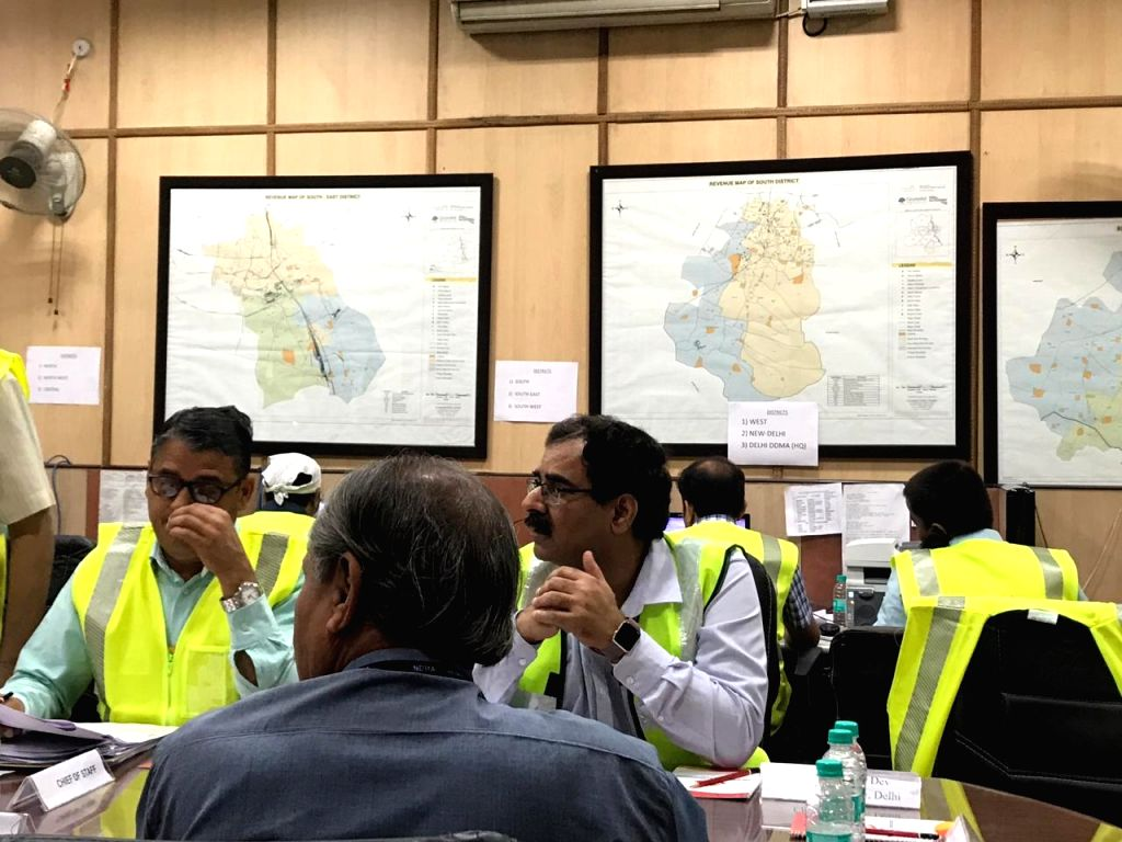 New Delhi: A view of Emergency Operation Centre at Divisional Commissioner's Office as a mock excercise of disaster management - preparedness for earthquake in all districts of Delhi begins on June 28, 2019. (Photo: IANS)