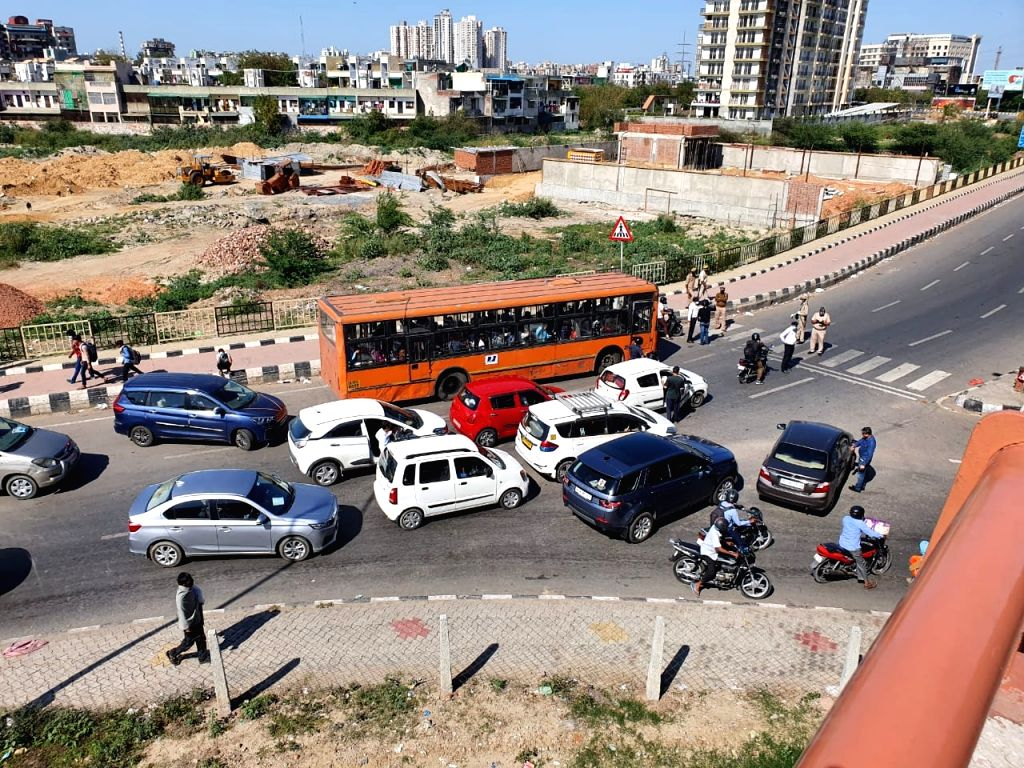 New Delhi: A view of the Anand Vihar bus terminal close to Delhi's border with Ghaziabad on Day 5 of the 21-day countrywide lockdown imposed to contain the spread of novel coronavirus, on March 29, 2020. (Photo: IANS)