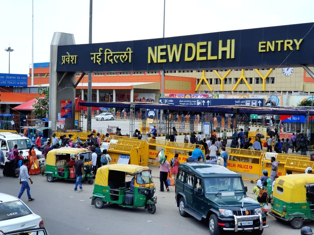 New Delhi: A view of the busy New Delhi Railway Station on Day 2 of the fifth phase of the nationwide lockdown imposed to mitigate the spread of coronavirus, on June 2, 2020. (Photo: IANS)