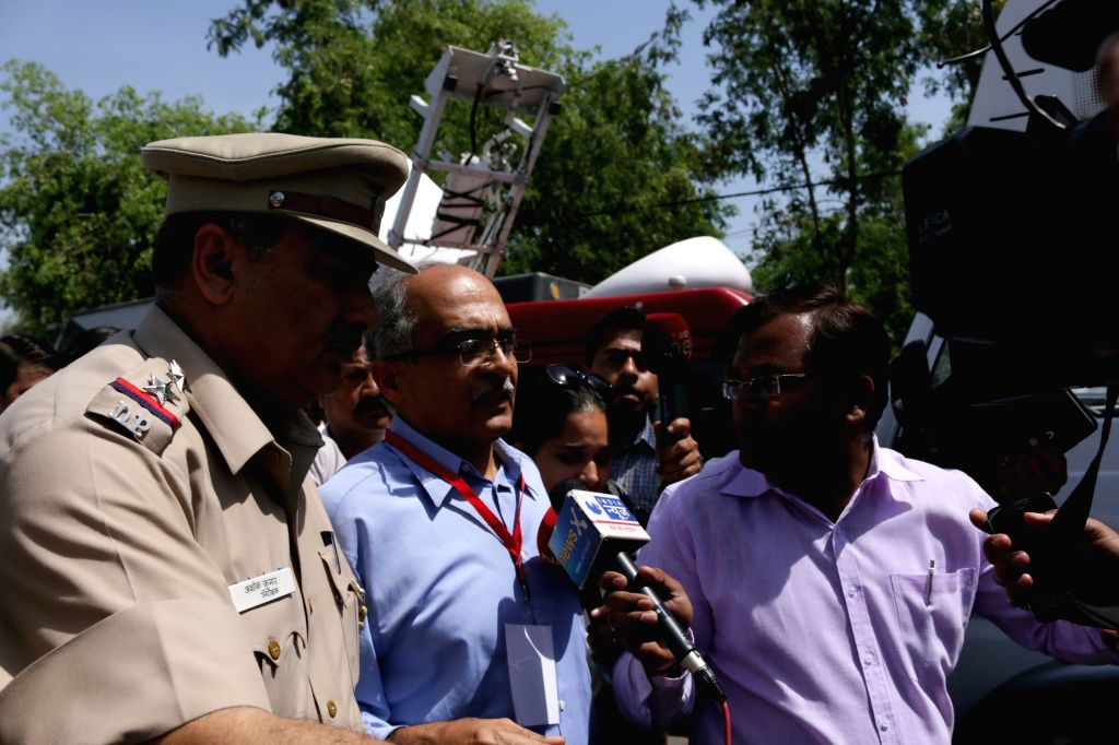 AAP dissident leader Prashant Bhushan at the venue of AAP`s National Executive Meeting in New Delhi on March 28, 2015.