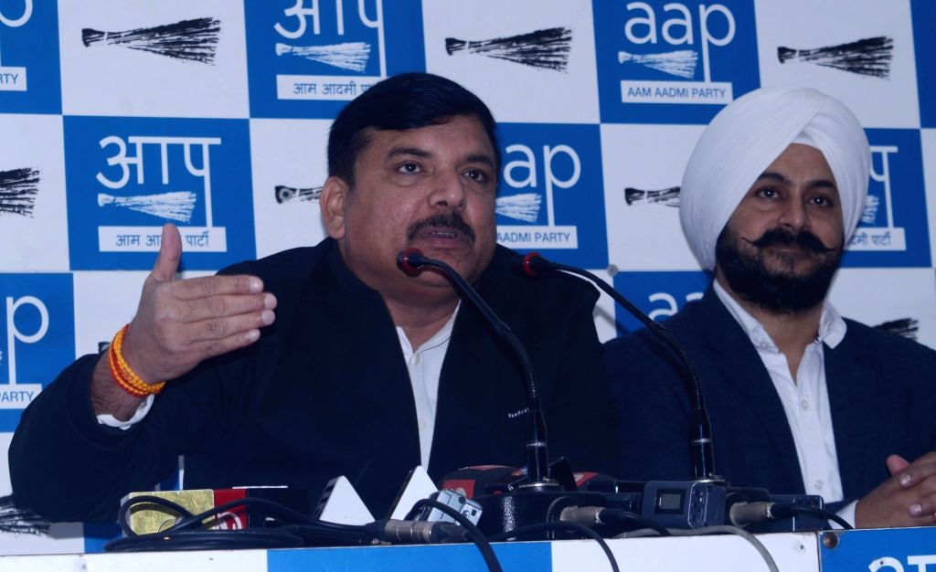 : New Delhi: AAP leader Sanjay Singh address a press conference in New Delhi on Dec 14, 2018. (Photo: IANS).