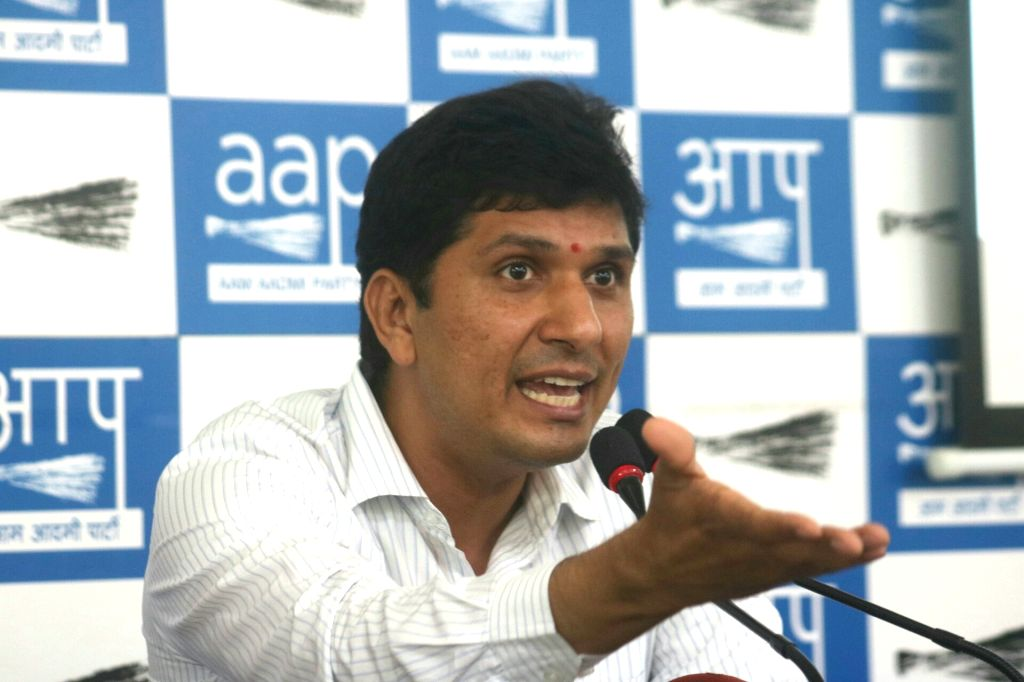 New Delhi: AAP leader Saurabh Bhardwaj addresses a press conference in New Delhi, on June 2, 2017. (Photo: IANS) - Saurabh Bhardwaj