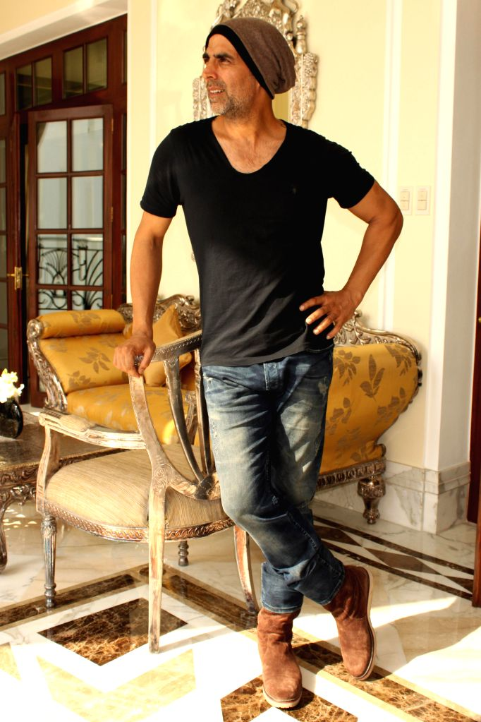 Actor Akshay Kumar during promotion of his upcoming film `Baby` in New Delhi, on Jan 19, 2015.