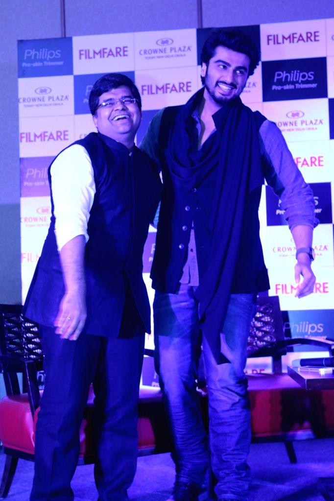 Actor Arjun Kapoor at the cover launch of Filmfare magazine in New Delhi, on Dec 17, 2014.