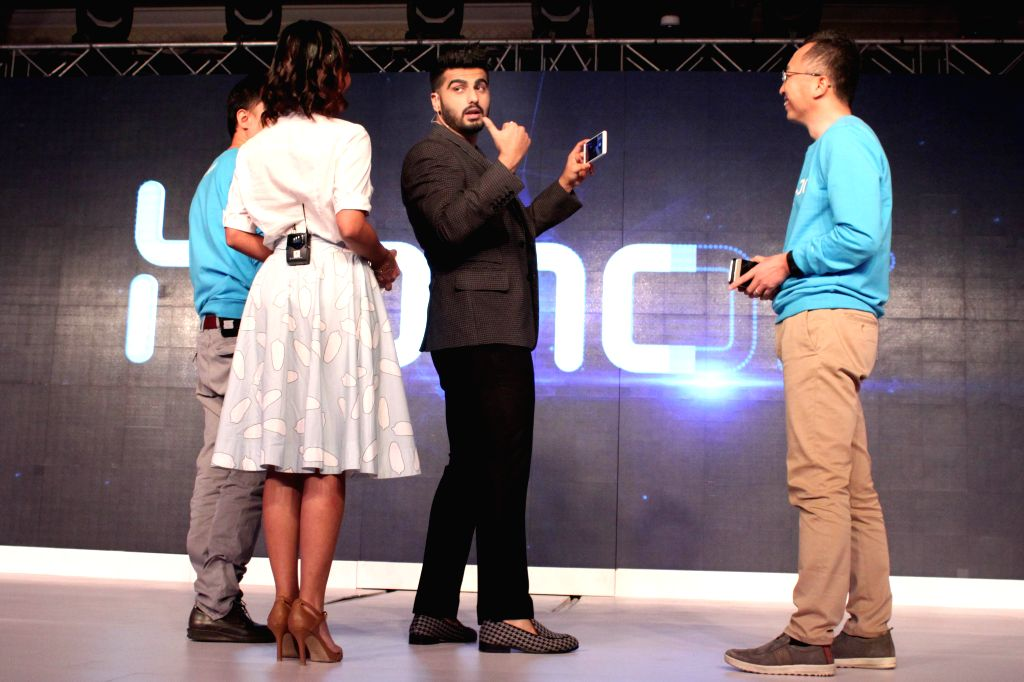Actor Arjun Kapoor at the launch new smartphones of Honor 6 Plus and 4X in New Delhi on March 24, 2015.