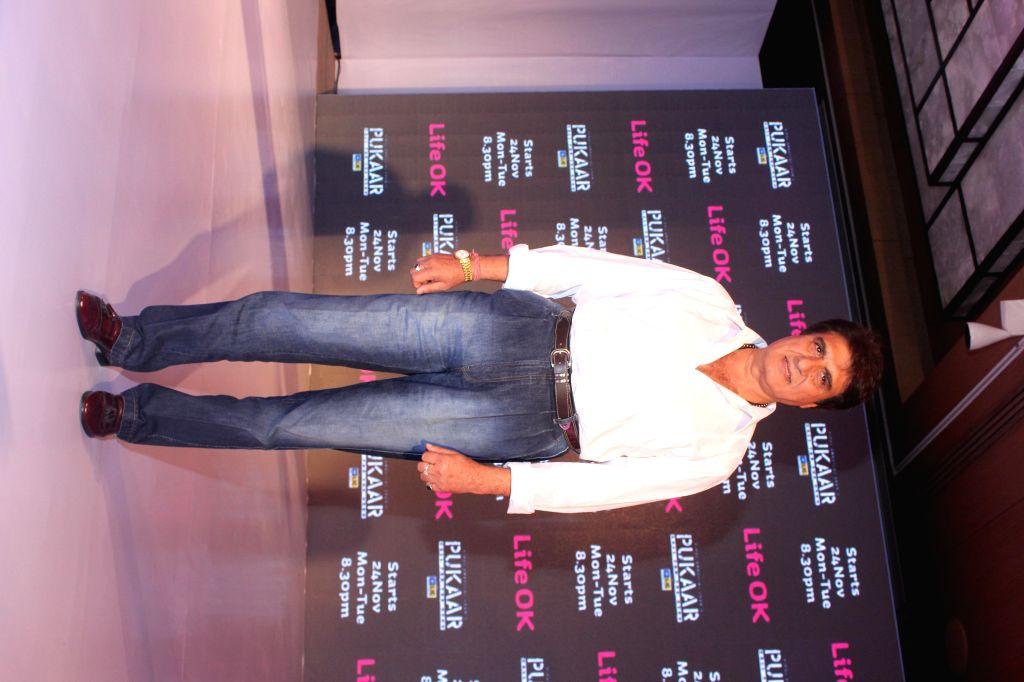Actor Raj Babbar during screening of Pukaar — Call For The Hero, an action drama series in New Delhi, on Nov 12, 2014. - Raj Babbar