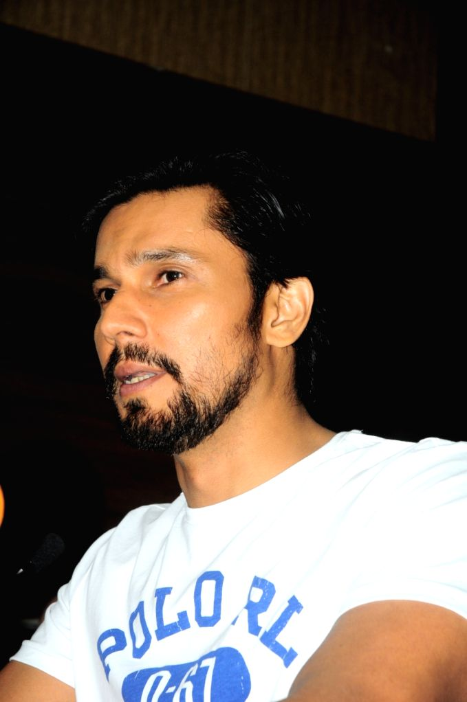 New Delhi: Actor Randeep Hooda during a product launch programme in New Delhi, on March 30, 2019. (Photo: AmlanPaliwal/IANS) - Randeep Hooda