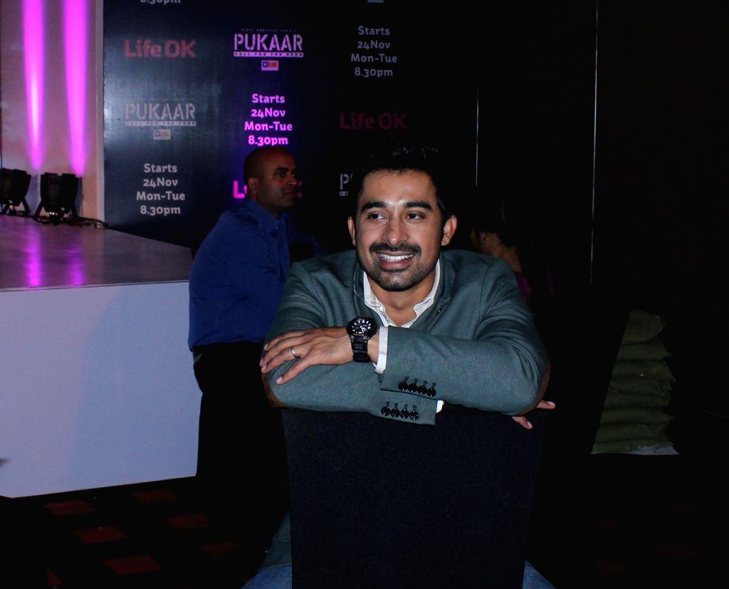 Actor Rannvijay Singh during screening of Pukaar — Call For The Hero, an action drama series in New Delhi, on Nov 12, 2014. - Rannvijay Singh