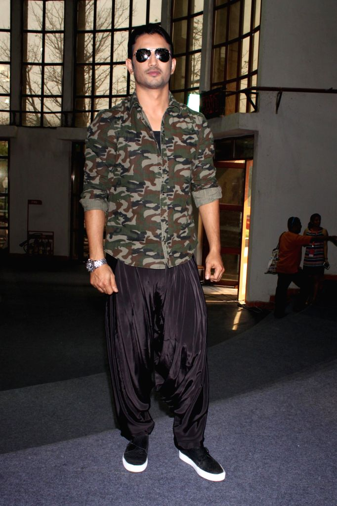 Actor Sushant Singh Rajput unveils Detective Byomkesh Bakshy at at Amazon India Fashion Week 2015 in New Delhi, on March 26,2015.
