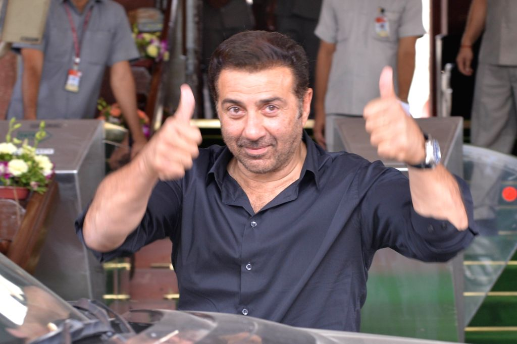 New Delhi: Actor turned politician and Gurdaspur MP Sunny Deol arrives at Parliament in New Delhi on June 17, 2019. (Photo: IANS)