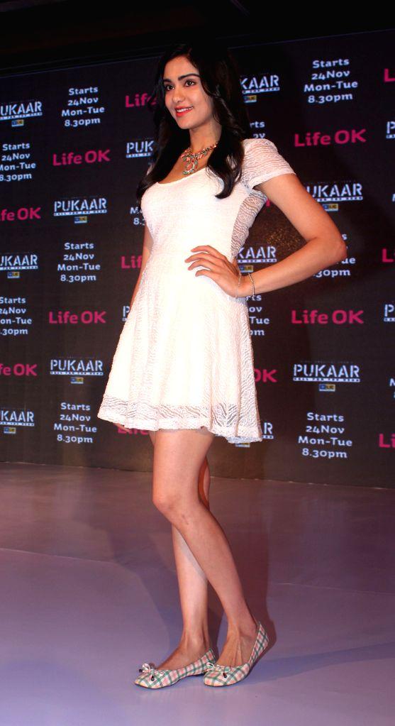 Actors Adah Sharma during screening of Pukaar — Call For The Hero, an action drama series in New Delhi, on Nov 12, 2014. - Adah Sharma