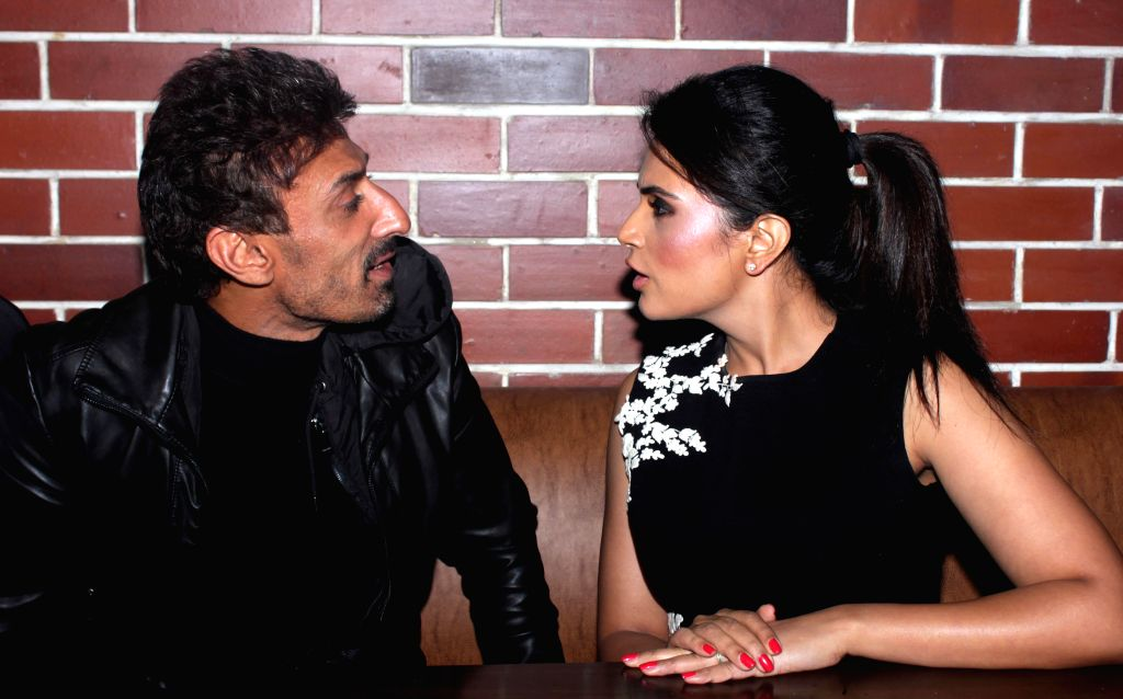 Actors Rahul Dev and Richa Chadda during the launch of a restaurant in New Delhi on Dec 12, 2014.