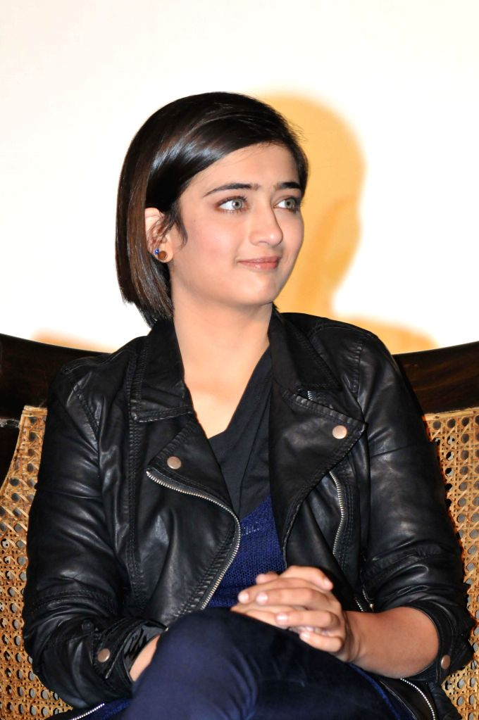 Actress Akshara Haasan during a promotional event of her upcoming film `Shamitabh` in New Delhi on Feb. 2, 2015. - Akshara Haasan