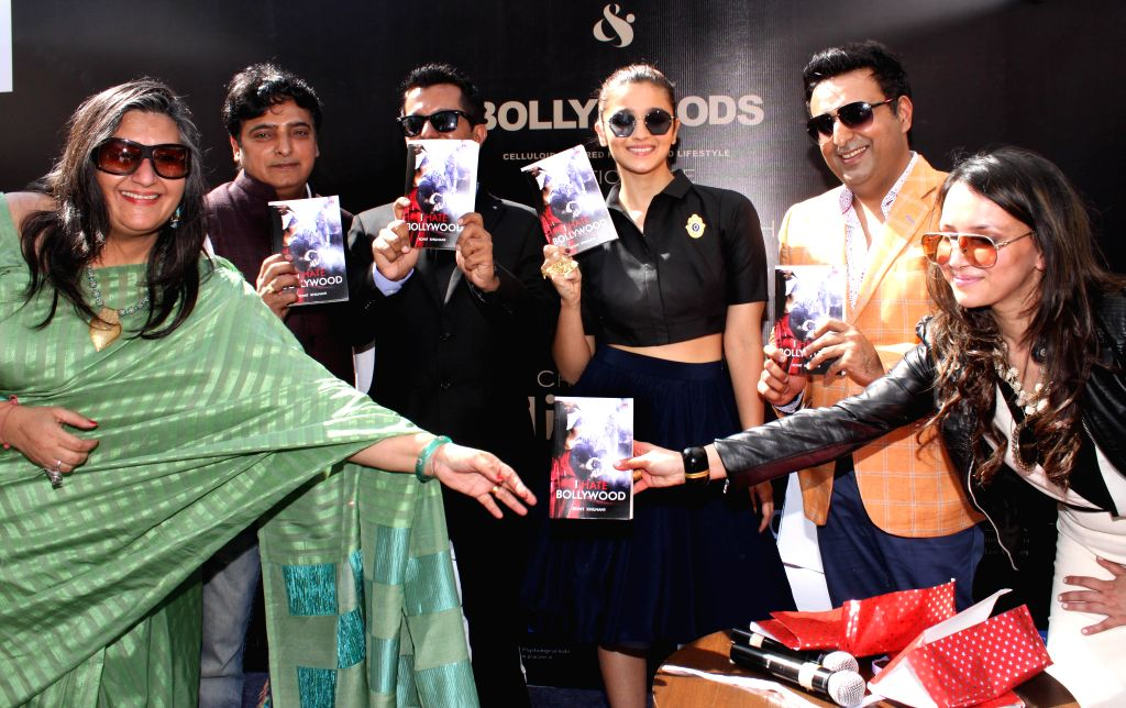 Actress Alia Bhatt at the launch of `I hate Bollywood` a book authored by Rohit Khilnani in New Delhi, on Feb 22, 2015.