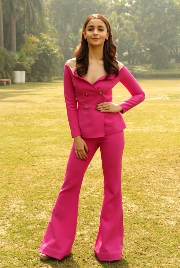 "New Delhi:Actress Alia Bhatt during a press conference regarding her upcoming film ""Gully Boy"" in New Delhi on Feb 13, 2019. - Alia Bhatt"