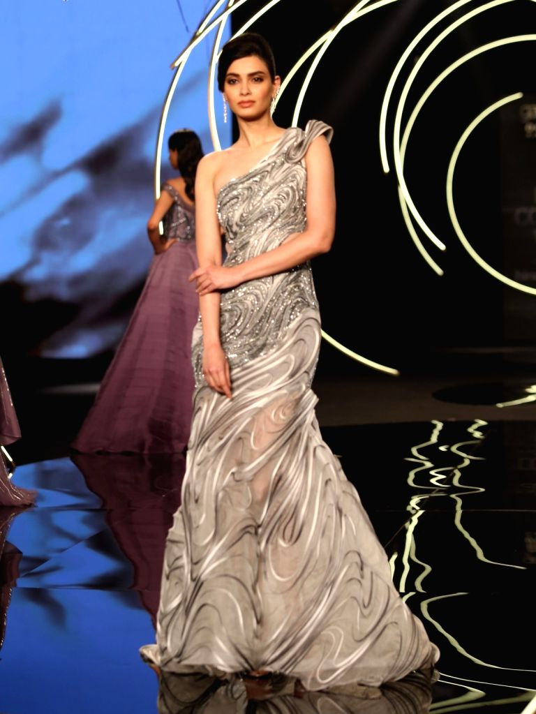 New Delhi: Actress Diana Penty walks the ramp for designer Gaurav Gupta at India Couture Week  on July 27, 2019 (Photo: Amlan Paliwal/IANS) - Diana Penty and Gaurav Gupta