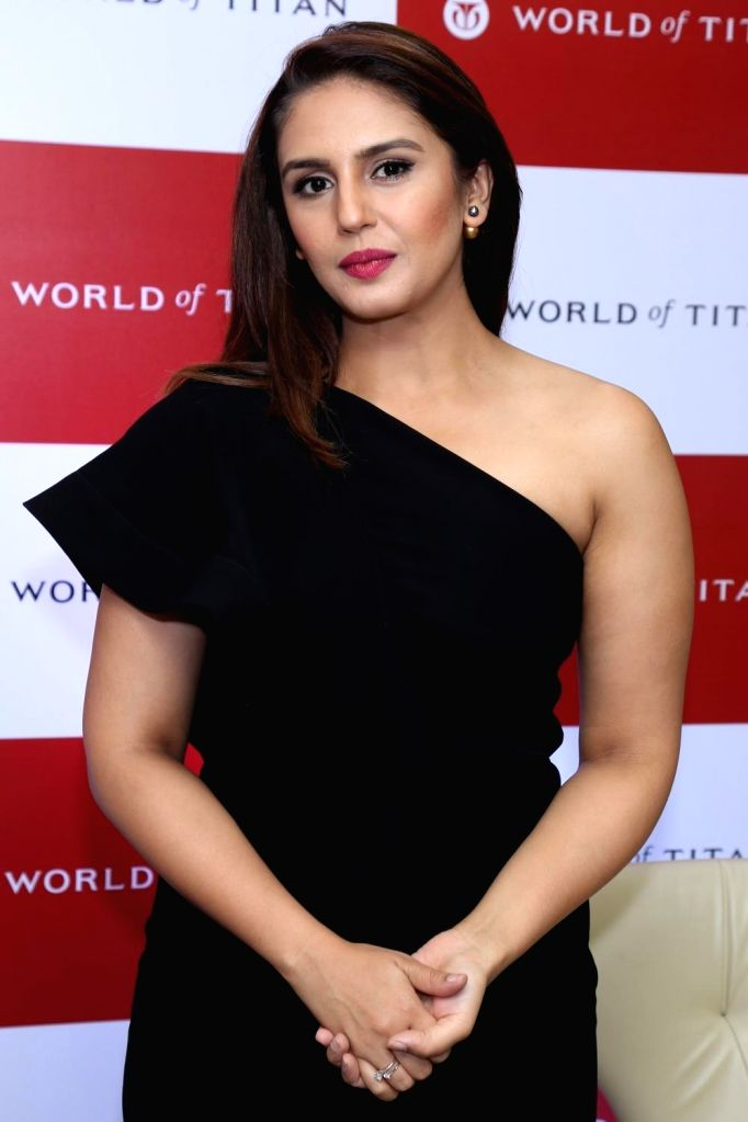 : New Delhi: Actress Huma Qureshi during the launch of `Moonlight Collection` by Titan Raga in New Delhi on Nov 6, 2015. .