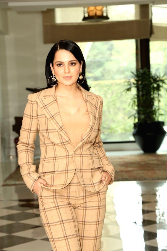 "New Delhi: Actress Kangana Ranaut at a press conference to promote her upcoming film ""Panga"" in New Delhi on Jan 20, 2020. (Photo: IANS) - Kangana Ranaut"