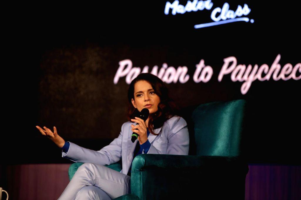 New Delhi: Actress Kangana Ranaut at Signature Masterclass session in New Delhi on Feb 3, 2019. (Photo: Amlan Paliwal/IANS) - Kangana Ranaut