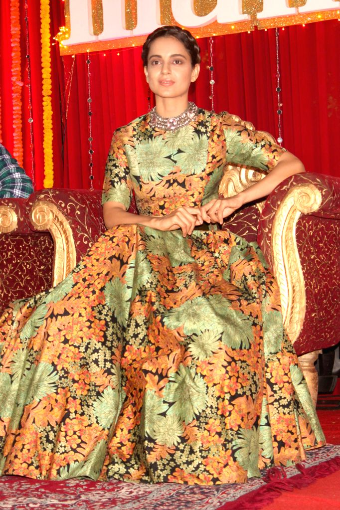 Actress Kangana Ranaut during a programme organised to promote her upcoming film `Tanu Weds Manu Returns` in New Delhi, on March 23, 2015. - Kangana Ranaut