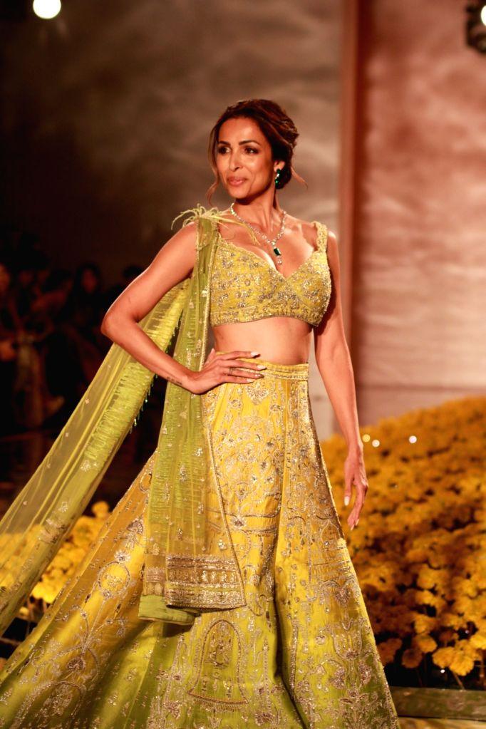 New Delhi: Actress Malaika Arora walks the ramp for designer Sulakshana Monga at India Couture Week 2019 in New Delhi, on July 25, 2019. (Photo: Amlan Paliwal/IANS) - Malaika Arora