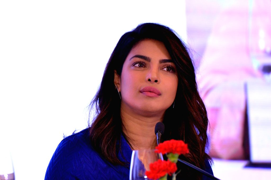 New Delhi: Actress Priyanka Chopra during a panel discussion at Curtain Raiser for Partners' Forum 2018, in New Delhi on April 11, 2018. (Photo: IANS) - Priyanka Chopra