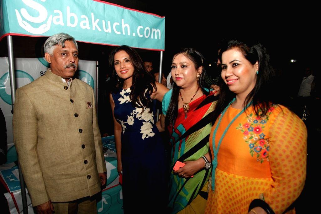 Actress Richa Chadda at the launch of a Social networking platform  in New Delhi, on April 22, 2015.